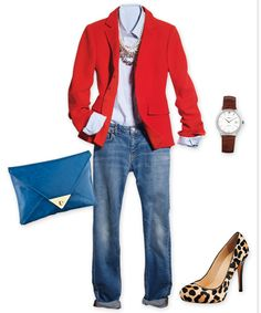 boyfriend jeans and blazer