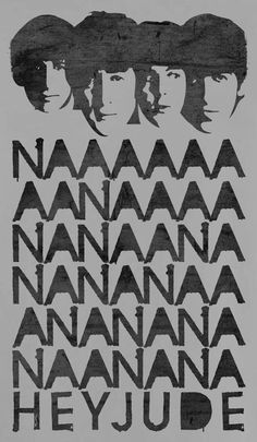The Beatles Vintage nanana hey Jude Poster The Beatles Tumblr, Beatles Love, Les Beatles, Beatles Party, Beatles Birthday, Beatles Quotes, Beatles Poster, Beatles Lyrics, John Lennon