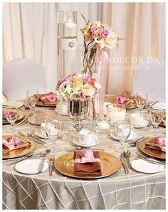 Beautiful colour pallets. #tablescape #gold #centrepieces   www.unicodecor.com