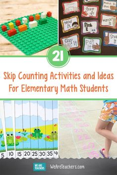 21 Skip Counting Activities and Ideas For Elementary Math Students. Get kids ready to multiply with skip counting activities like hopscotch, mazes, and connect-the-dots. You'll love these fun free ideas! Skip Counting Songs, Skip Counting Activities, Real Life Math, Kindergarten Worksheets, Preschool Math, First Grade Math, Elementary Math, Teaching Math