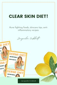 Clear skin diet Improve the look of your skin by simply adding the right foods to your diet :) Here you will find anti-inflammatory recipes and more about the dermi diet! Get clear skin naturally and facts, learn more about acne-fighting foods, acne clearing diets, skincare, and acne treatments. Clear Skin Fast, Clear Skin Tips, Acne Clearing Foods, Clear Skin Routine, Glowing Skin Diet, Acne Treatments, Anti Inflammatory Recipes, How To Treat Acne, Diets