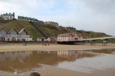 Saltburn Beach And Peir With Reflection 4 by Jake Risbridger, via Flickr