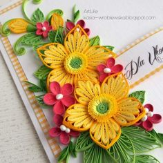 Quilling Paper Art by Kasia Wojtasik 3d Quilling, Paper Quilling Cards, Paper Quilling Tutorial, Paper Quilling Flowers, Paper Quilling Patterns, Origami And Quilling, Quilled Paper Art, Quilled Roses, Quilled Creations