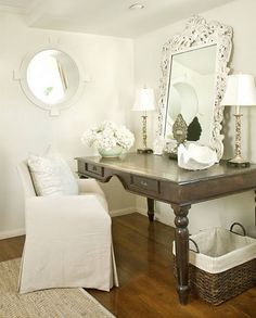 Very pretty for dressing area/make-up table or secretary in sitting room!