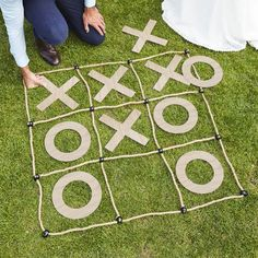 Ginger Ray Large Outdoor Tic-Tac-Toe Game 3 x 3 Wedding Yard Games, Outdoor Wedding Games, Wedding Reception Games, Wedding Games For Kids, Wedding Receptions, Diy Wedding, Party Games For Kids, Country Wedding Games, Outdoor Drinking Games