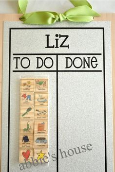 A great DIY project to help kids keep track of chores and routines