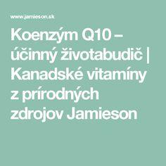 Koenzým Q10 – účinný životabudič | Kanadské vitamíny z prírodných zdrojov Jamieson