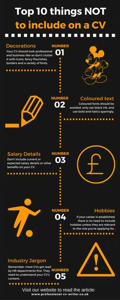 10 Huge CV Mistakes [Infographic]