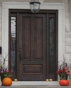 Exterior In Flagstone Mainstreet Siding On Top And Light Grey Bottom Dark Wood Front Door