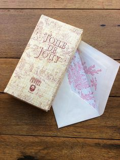 romanttisia TOILE DE JOUY kirjekuoria