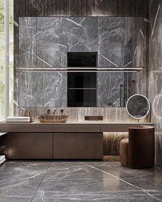 Bathroom Toilets, Bathrooms, Toilet Design, Bathroom Interior, Master Bathroom, Dark Grey, Marble, New Homes, Mirror