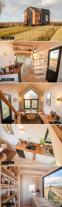 "French builder Baluchon created this beautiful tiny house, named ""Little Prince,"" using zinc and red cedar cladding. Zinc is a waterproof, malleable material with a long lifespan of 80-100 years."