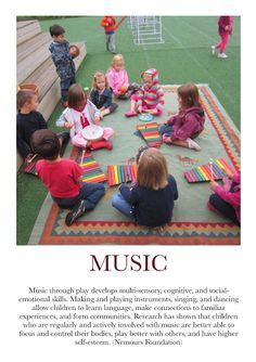 Some nice wording for sharing with parents what their children are learning through different types of play.