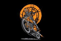 Skull Rider Tshirt Design :Organized Layer, Easy for change color and add text, file (adobe illustrator CS5, illustrator CS5 Eps and Png Transparent Background), this design can be used for screen printing and direct to garment.