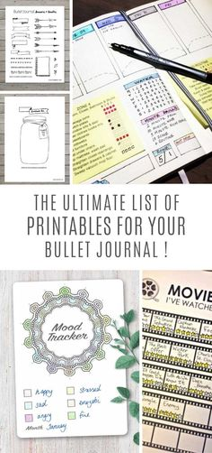 No time (or creative energy) to replicate all of the amazing bullet journal layouts you've been drooling over? The Bullet Journal printables are just what you need! Bullet Journal Goals Page, Bullet Journal Set Up, Bullet Journal Printables, Bullet Journal How To Start A, Bullet Journal School, Bullet Journal Ideas Pages, Bullet Journal Inspiration, Planner Organization, Organizing Tips