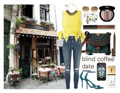 """""""Blind Coffee Date"""" by kaurcoffee ❤ liked on Polyvore featuring Steven, Sweet Romance, Chloé, Edward Bess, NARS Cosmetics, River Island, MSGM, Clinique, Michael Kors and Casetify"""