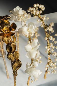 Floral Headbands by Jennifer Behr Cute Jewelry, Hair Jewelry, Bridal Jewelry, Hair Accessories For Women, Wedding Hair Accessories, Handmade Hair Accessories, Hairband, Floral Headbands, Handmade Headbands