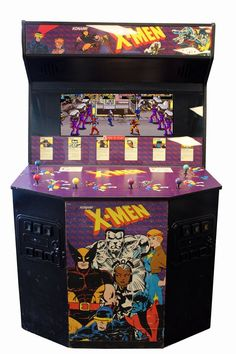 X-MEN SIX PLAYER - Arcade Cabinet Model