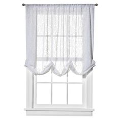 "Simply Shabby Chic® Lace Balloon Shade - White (54x84"").Opens in a new window"