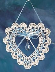 crochet heart suncatcher - Bing Images