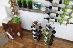 Stojak na wino RW-18 2x4 7 butelek - Seria RW-18 - Regały na wino Wine Rack, Cabinet, Storage, Furniture, Home Decor, Clothes Stand, Purse Storage, Decoration Home, Room Decor