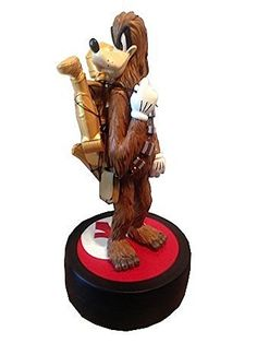 Star Wars ~ Disney 2015 Weekend limited mid fig Statue Goofy as Chewbacca with C-3PO / STAR WARS Disney GOOFY as CHEWBACCA Disney Parks