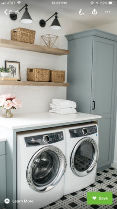"""Exceptional """"laundry room storage diy"""" detail is offered on our website. Have a look and you wont be sorry you did. Laundry Room Tile, Laundry Room Layouts, Laundry Room Storage, Laundry Room Design, Modern Laundry Rooms, Basement Laundry, Laundry Closet, Interior Design Living Room, Living Room Designs"""