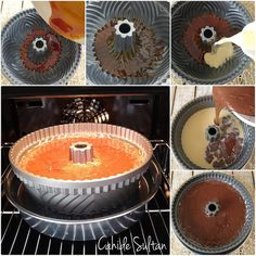 karamelli kek yapımı