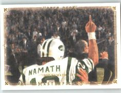 2008 Upper Deck / UD Masterpieces #47 Joe Namath - New York Jets (Football Cards) by Upper Deck / UD Masterpieces. $3.48. 2008 Upper Deck / UD Masterpieces #47 Joe Namath - New York Jets (Football Cards)