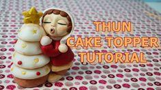 how to make christmas thun cake topper fondant - tutorial pasta di zucch...