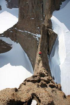 climbing Holtanna, Antarctica