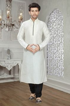 off-white-art-silk-designer-kurta-pajama-for-wedding-c15211-4e9.jpg (1000×1500)
