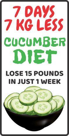 weight loss cucumber diet