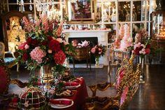 Baroque inspired wedding reception | Kate Nielen Photography and Elizabeth's Cake Emporium | see more on: http://burnettsboards.com/2014/09/lavish-wedding-cakes/