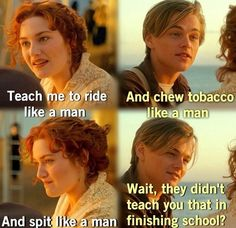 "19 Reasons Rose From ""Titanic"" Is A Feminist Hero Leonardo Dicaprio Kate Winslet, Young Leonardo Dicaprio, Titanic Movie Quotes, Real Titanic, Titanic Wreck, Titanic History, Leo And Kate, Favorite Movie Quotes, Chick Flicks"
