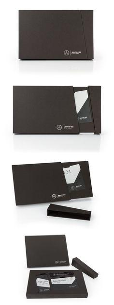 Daimler DTM VIP-Ticketbox mit Magnetverschluss Luxury Packaging, Box Packaging, Packaging Design, Sales Kit, Credit Card Design, Member Card, Vip Card, Portfolio Book, Stationary Design