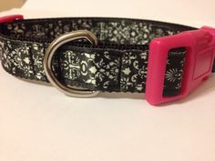 Damask dog collar by printsforpaws on Etsy
