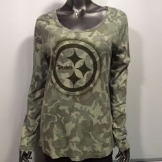 Pittsburgh Steelers NFL Camo Camouflage Thin V-Neck Fitted XL Thermal   NFLTeamApparel  PittsburghSteelers 8a4ebe6a73f1