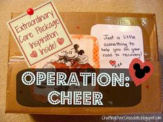 Chatting Over Chocolate: OPERATION: CHEER {Extraordinary Care Package Inspiration!}