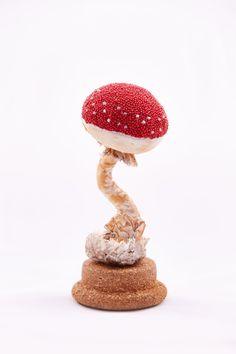 Textile mushroom Amanita by RanaVerdeShop on Etsy