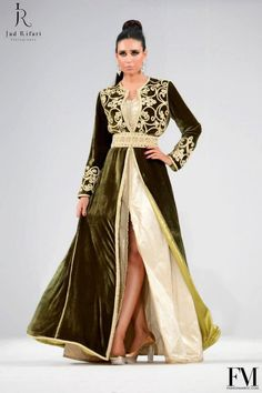 I'm in love with this 2 layers nouveau style caftan