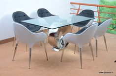 Contemporary dining room furniture.