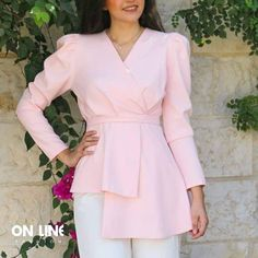 Pink Top – QuickBuy Pink Tops, Wrap Dress, Dresses With Sleeves, Elegant, Long Sleeve, Womens Fashion, Classy, Sleeve Dresses, Long Dress Patterns