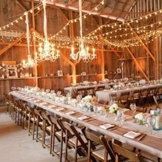 A round up of the best lighting ideas EVER for your wedding day. Image via shelterness.