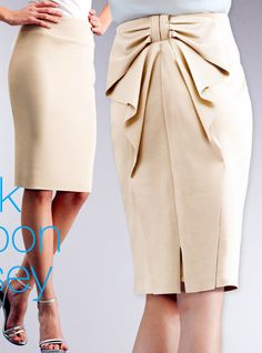 pencil skirt with a bow in the back <3
