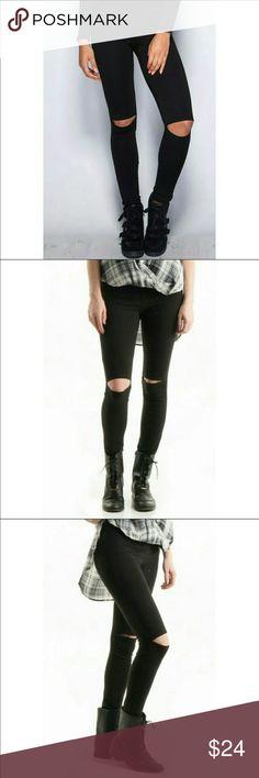 ⚜️Cut-out Knees High Waist Leggings⚜️ ⚜️Super Stylish High Waist Leggings with Cut-out Knees 95% Cotton 5% Spandex. Made in the USA ⚜️ Pants Leggings