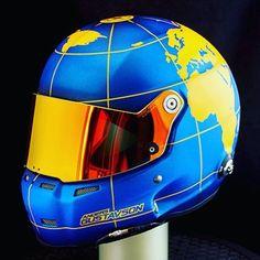 Anders Gustavson new stilo helmet in worldmap/atlas theme painted in swedish colors sec metallic blue and yellow covered with a #glasurit clearcoat and a nice matt flat clear. #helmetpaint #360gfx_com #helmetdesign #worldmap #atlas #360gfx #glasurit #basfrefinish #jtape #3mtape #motivlack #airbrush #anestiwata #iwata #anestiwatascandinavia #sweden #andersgustavson #stilohelmets