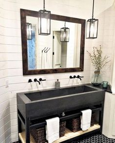 43 Cozy Small Bathroom Decor Ideas With Farmhouse Style. Small bathrooms have their own challenges when it comes to decorating. The design layout for a small bathroom is the first challenge. Space is . Bathroom Lighting Design, Bathroom Light Fixtures, Bathroom Styling, Bathroom Interior Design, Bad Inspiration, Bathroom Inspiration, Bathroom Ideas, Bathroom Designs, Budget Bathroom