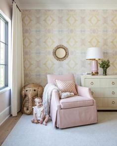 10516 Shell Pink A Standard Wallcovering – Lindsay Cowles Girl Nursery, Girls Bedroom, Nursery Decor, Room Decor, Beige Nursery, Nursery Ideas, Bedrooms, Room Ideas, Standard Wallpaper