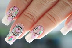 8 Pretty Simple Makeup Hacks That Will Make You Look Gorgeous Easily « Beauty MY Gorgeous Nails, Love Nails, Pretty Nails, My Nails, Hippie Nails, Dream Catcher Nails, Mandala Nails, Simple Acrylic Nails, Unicorn Nails